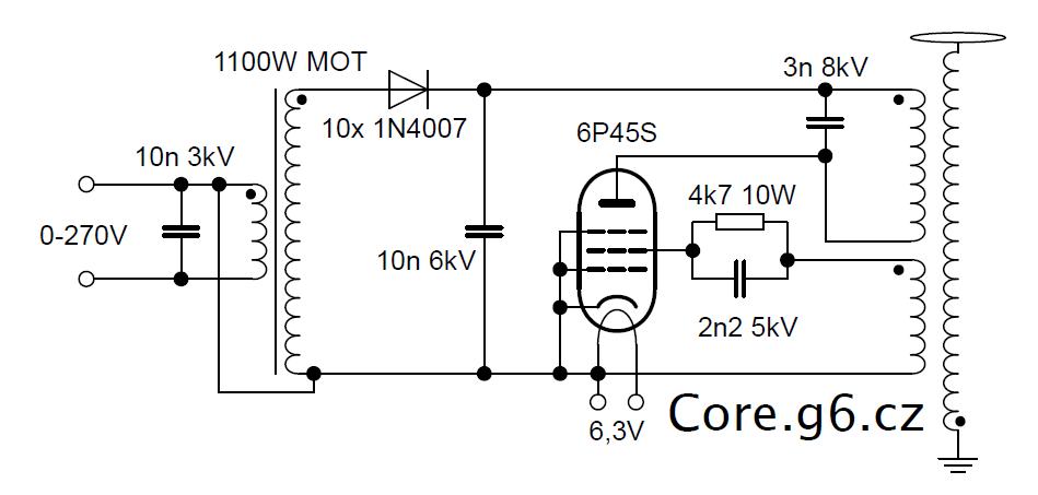 VTTC 6P45S - Schéma