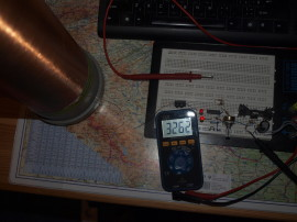 Měření mého největšího sekundáru (cca 50cm) - spočítáno 332kHz, změřeno 326kHz
