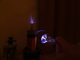 Plazmakoule v ruce